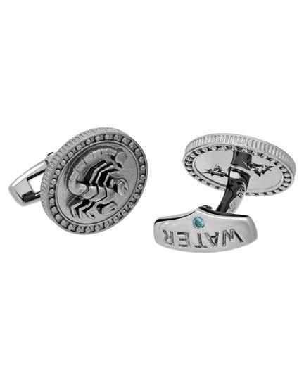 Stephen Webster Stephen Webster Astro Coin zodiac Scorpio cufflinks in sterling silver