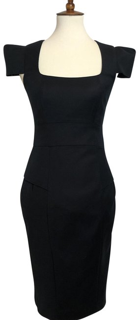 Preload https://img-static.tradesy.com/item/23693849/french-connection-black-knee-length-sheath-structured-office-246-mid-length-cocktail-dress-size-4-s-0-3-650-650.jpg