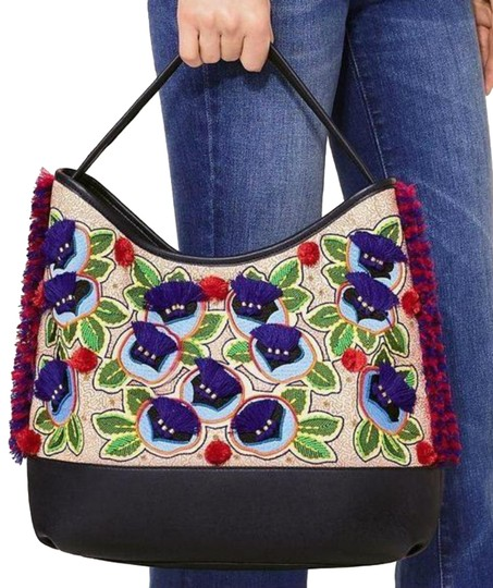 Preload https://img-static.tradesy.com/item/23693941/tory-burch-embroidered-floral-hobo-navy-multi-canvas-leather-tote-0-1-540-540.jpg