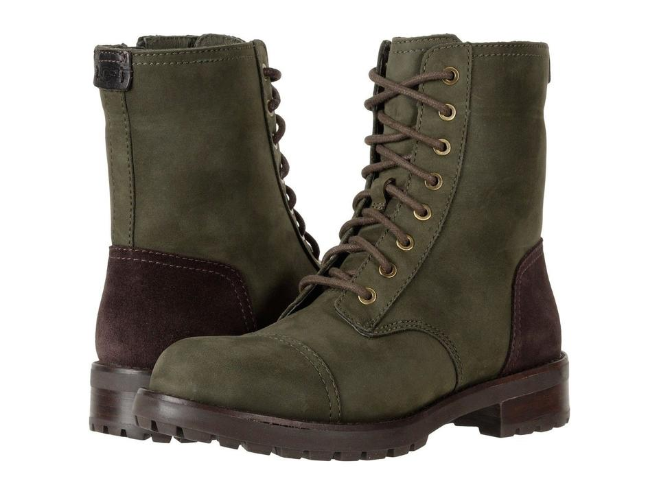 15eaa5a6d669 UGG Australia Green Brown Kilmer Military Lace Up Ankle Slate Boots Booties  Size US 9 Regular (M