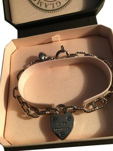 Juicy Couture Sliver Puffed Heart Charm bracelet