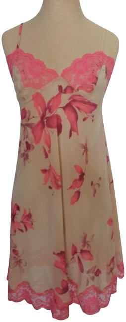 Preload https://img-static.tradesy.com/item/23694009/victoria-s-secret-nude-and-peach-floral-vintage-nightie-short-casual-dress-size-8-m-0-1-650-650.jpg