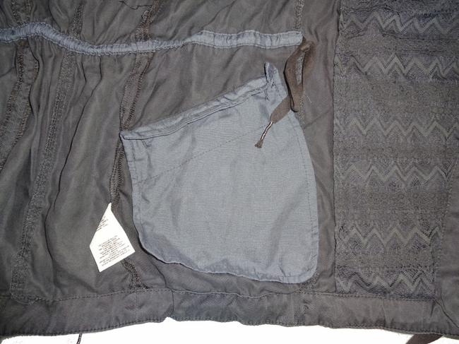 Anthropologie Lace Detailing High Quality Tencel Front Back Detailing Tie Bottom Military Jacket