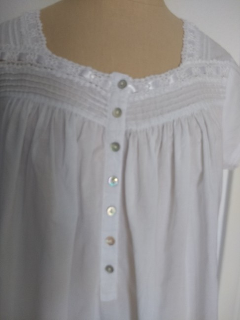 Eileen West short dress White Cotton Night Gown Lace Gently Loved on Tradesy