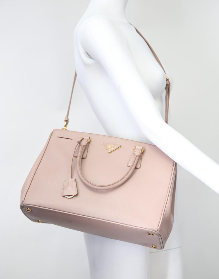 Bag Pink Leather Lux Saffiano Tote Body Cameo Prada Cross IqS8O7Iw