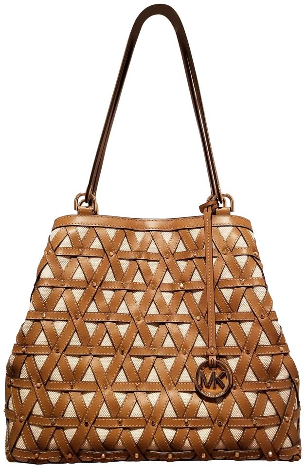 9310ae44ac62 MICHAEL Michael Kors Brooklyn Large Tote Acorn / Natural Leather ...