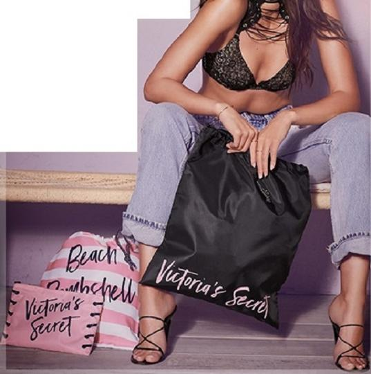 Victoria's Secret Vs Packable Trio Black Pink Travel Bag