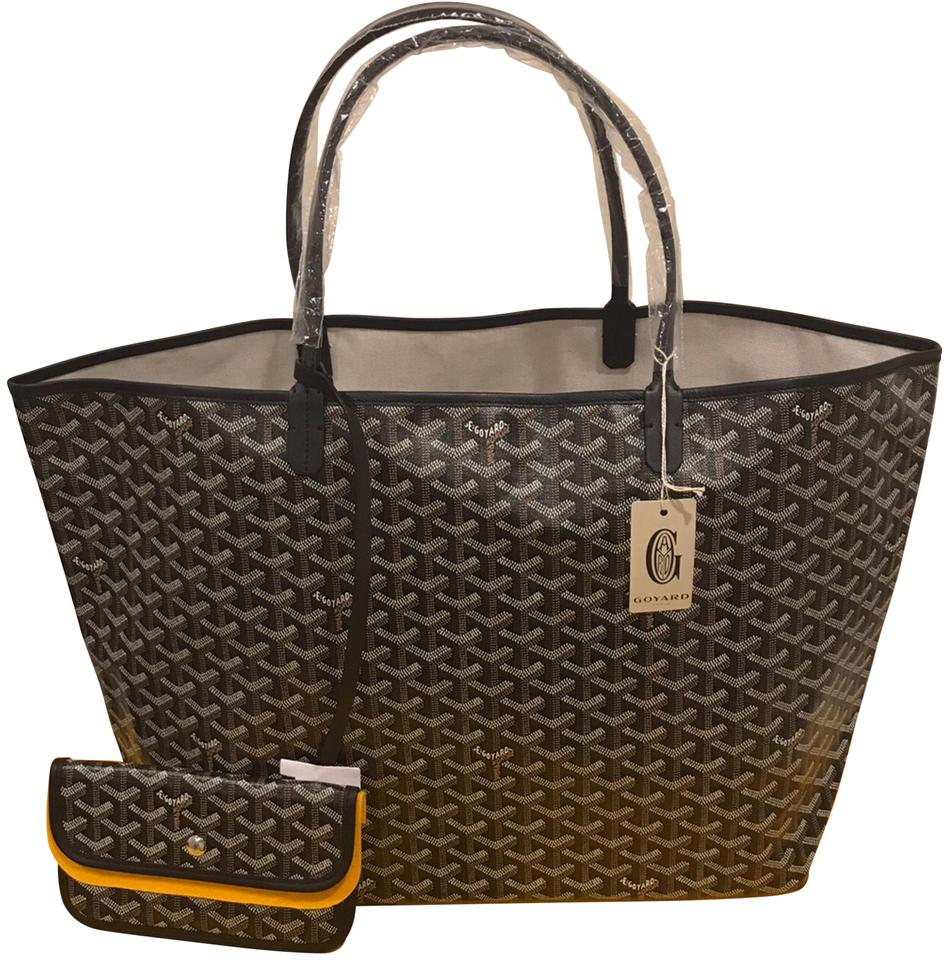 St Gm Tote Canvas Louis Gm Louis Black Goyard Saint nwcTxt1yf