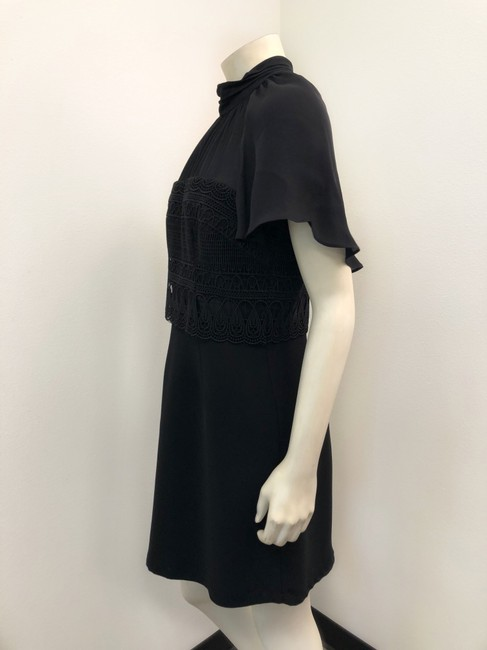 Alice & Trixie Sheer Cape Sleeve Short Sleeve Party Little Dress