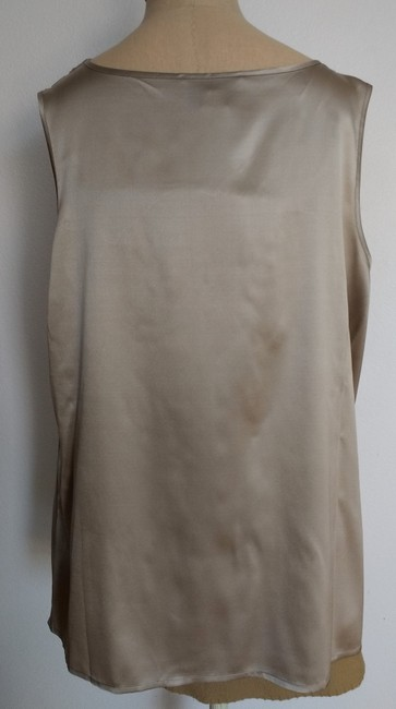 Don Caster Sleeveless New With Tags Top Pewter Silk