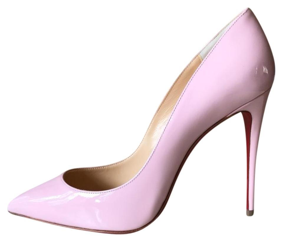 ce0b50a04f5 Christian Louboutin Pompadour Pink Pigalle Follies 38.5 Patent Leather 100  Pumps