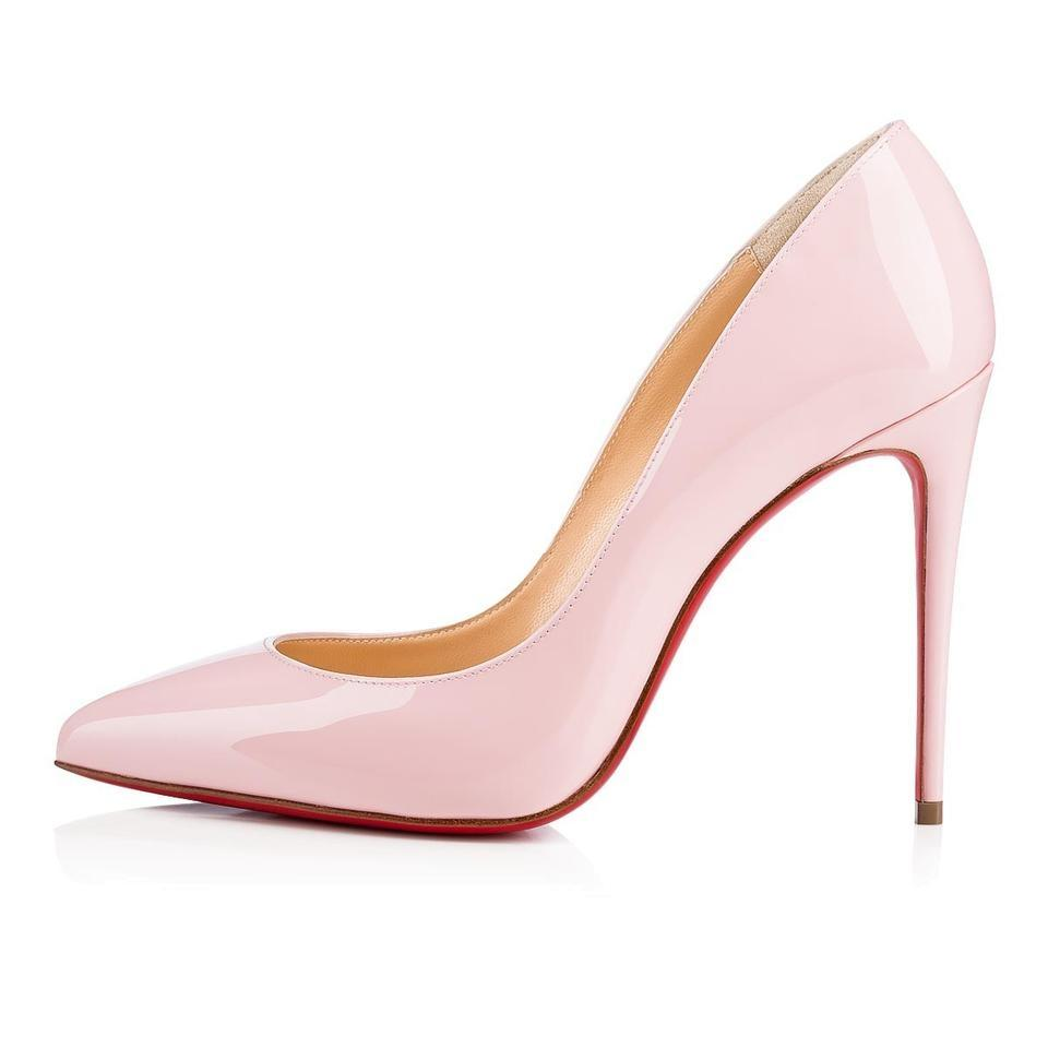 0f04c1a3952 Christian Louboutin Pompadour Pink Pigalle Follies 37 Patent Leather 100  Pumps