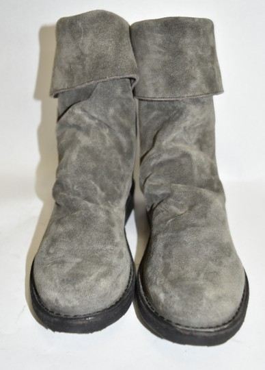 Fiorentini + Baker Wedge SUEDE GREY Boots