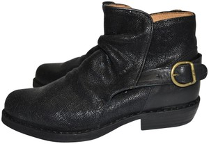 Fiorentini + Baker Wedge BLACK LEATHER Boots