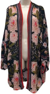 Anthropologie Floral Rayon. Bohemian Contemporary Jacket Cape