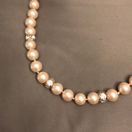 Kate Spade rose gold pearl necklace