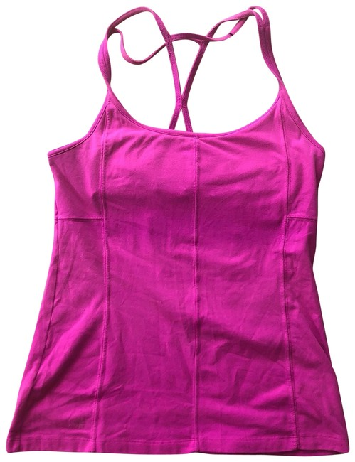 Item - Magenta Hot Pink Crossed Activewear Top Size 12 (L)
