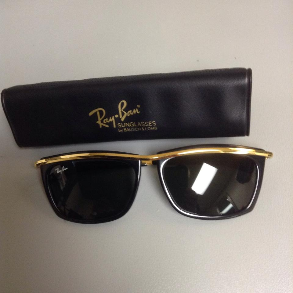 2e47699ce8 Ray-Ban Gold Black with Bausch   Lomb Lenses Olympian Ll (Vintage ...