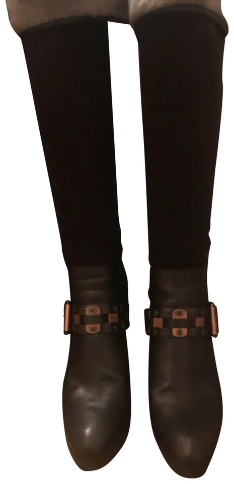 Women's Elegant Céline Brown Shearling Boots/Booties Elegant Women's and robust packaging 3f0253