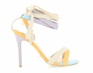 Tony Bianco Suede Leather Strappy Ankle Strap Multicolor Sandals