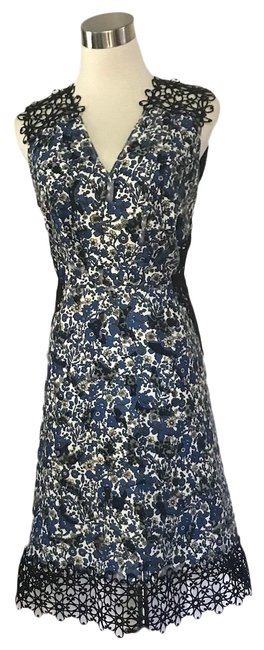 Elie Tahari Blue Black Mid-length Night Out Dress Size 6 (S) Elie Tahari Blue Black Mid-length Night Out Dress Size 6 (S) Image 1