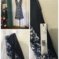 Elie Tahari Blue Black Mid-length Night Out Dress Size 6 (S) Elie Tahari Blue Black Mid-length Night Out Dress Size 6 (S) Image 5