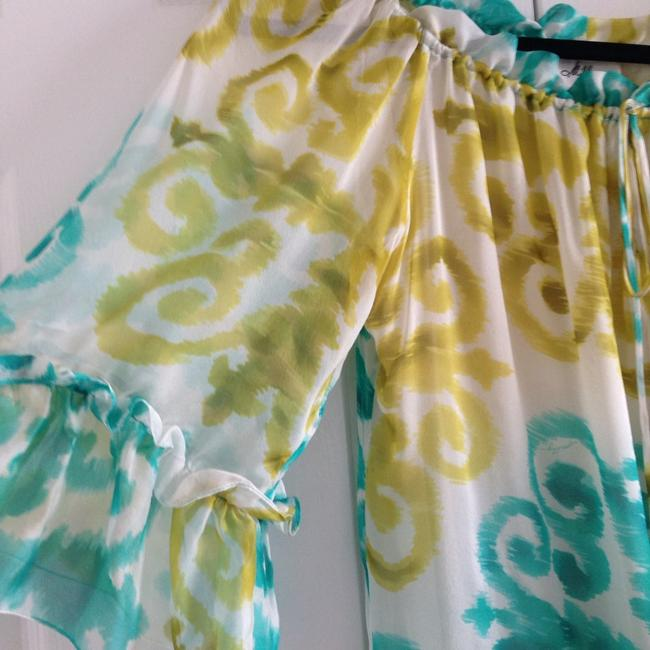 MILLY Top Blue & Green
