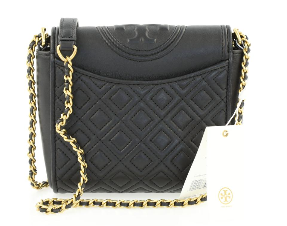2ac8b324b53c Tory Burch Fleming Convertible Box Black Leather Cross Body Bag - Tradesy