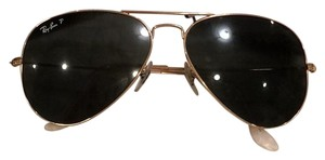 Ray-Ban Ray Ban RB 3025 58mm polarized gold aviator large metal 58014