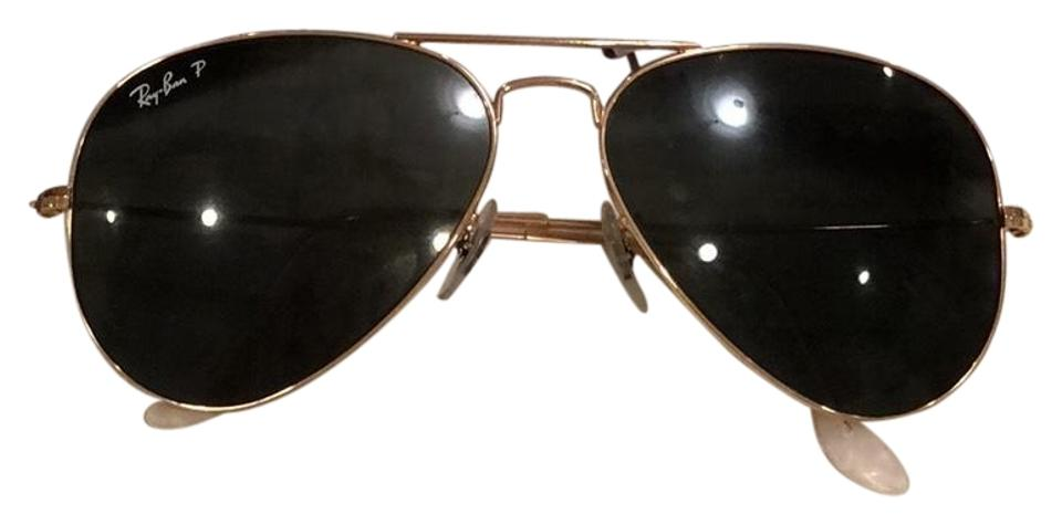 1cb48c3a2f Ray-Ban Gold Rb 3025 58mm Polarized Aviator Large Metal 58014 Sunglasses