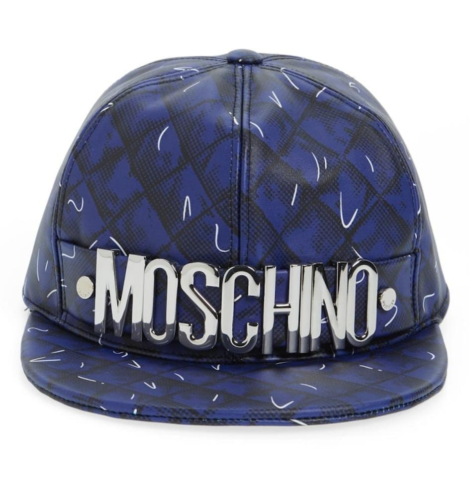 51581d6fd74f40 Moschino MOSCHINO Embellished printed leather baseball cap Image 7. 12345678