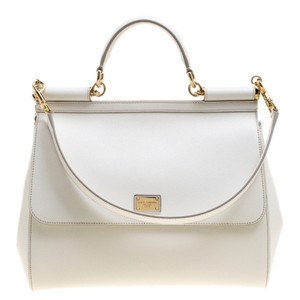 Dolce&Gabbana Leather Tote in White