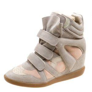 Isabel Marant Suede Leather Beige Wedges