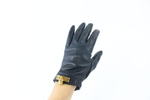 Hermès Black Kelly Cadena Driving 27hz0717 Gloves