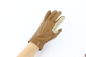 Hermès Brown Woven 29hz0717 Gloves
