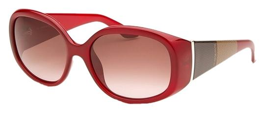 Fendi Maroon Picotin Oval Eye Sunglasses