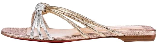 Item - Gold Castatane Rose Silver Metallic Flats Size EU 35 (Approx. US 5) Regular (M, B)