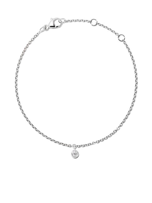 Item - White Diamond Chain Delicate Gold with Round Cut 0.10ct Bracelet