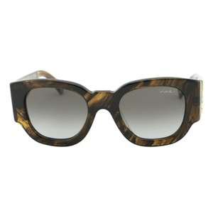 Lanvin New Paris Love Sln 630 Chunky Amber Clear Women Sunglasses