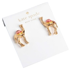 Kate Spade KATE SPADE 12K Gold Plated Spice Things Up Camel Stud Earrings