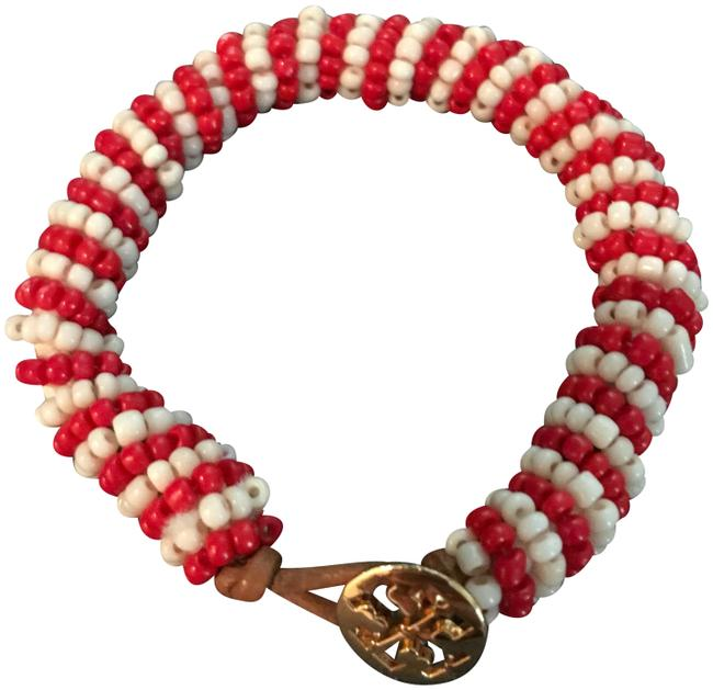 Item - Red/White With and Bead Bracelet