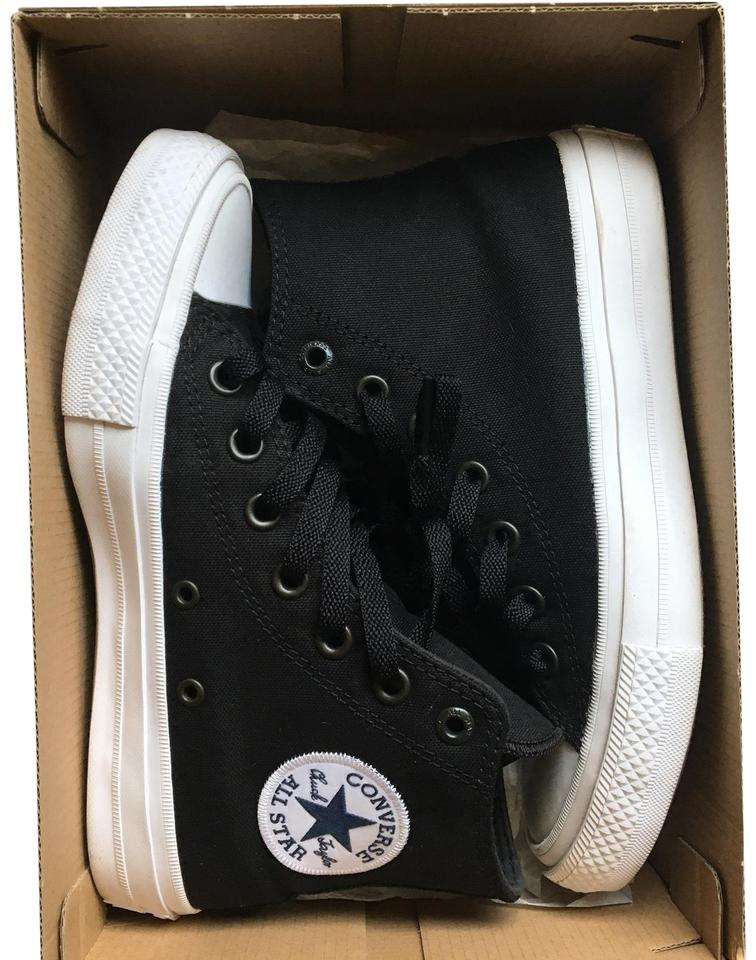 a20d52fb953c Converse Black White Sole Chuck Taylor Ii Hi All Star Sneakers Size ...