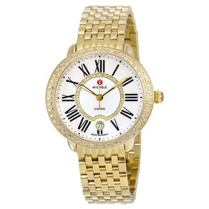 Michele Serein White Mother of Pearl Dial Ladies Watch mww21b000031