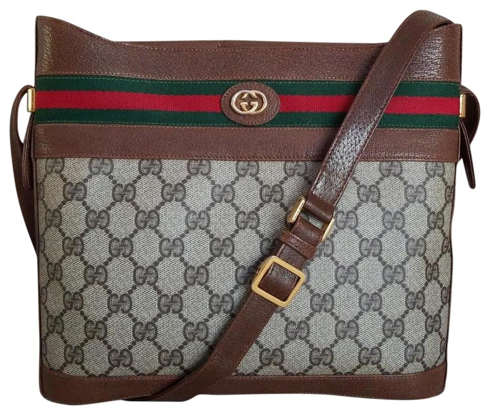 5951b304b381 Gucci Vintage Vintagegucci Gg Monogram Bucket Cross Body Bag Image 0 ...