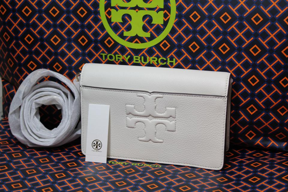 Leather T Small Body Bombe Burch Bombe White Ivory Tory Bag Cross Summer t Purse Logo wPTqY5