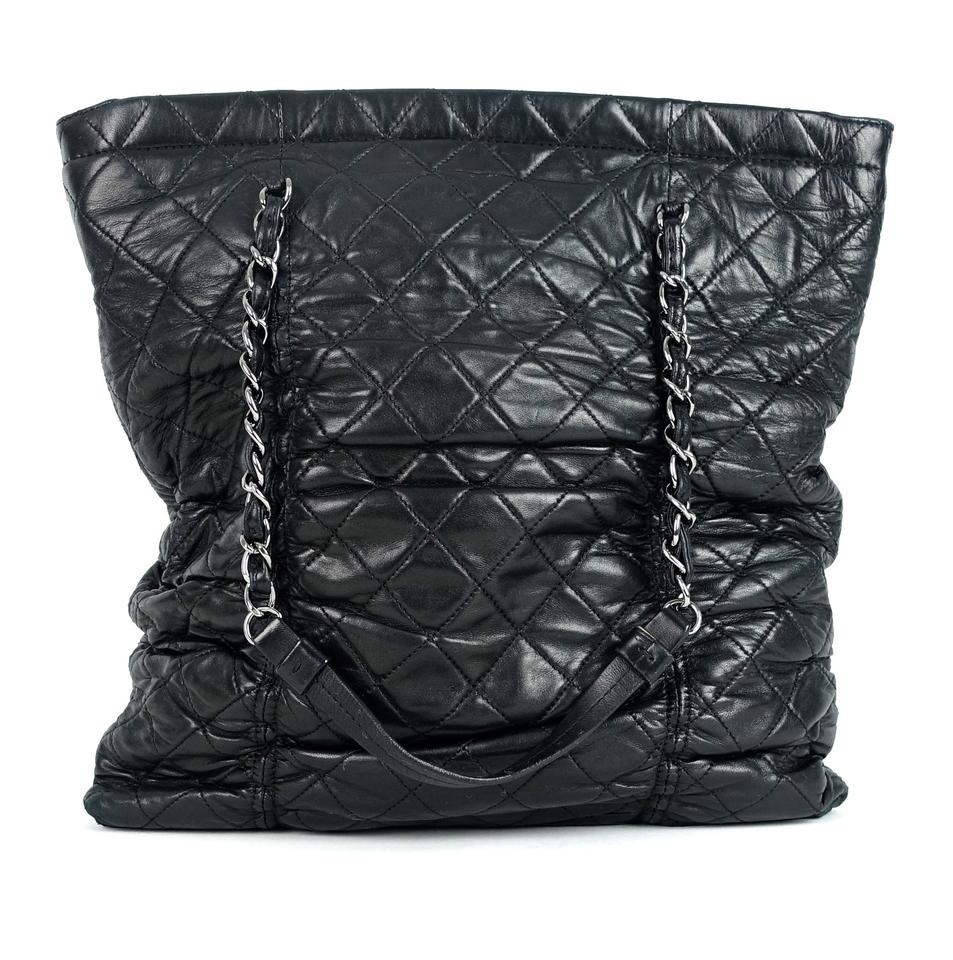 370777bd94aa Chanel Bag Sharpei Quilted Black Lambskin Leather Tote - Tradesy