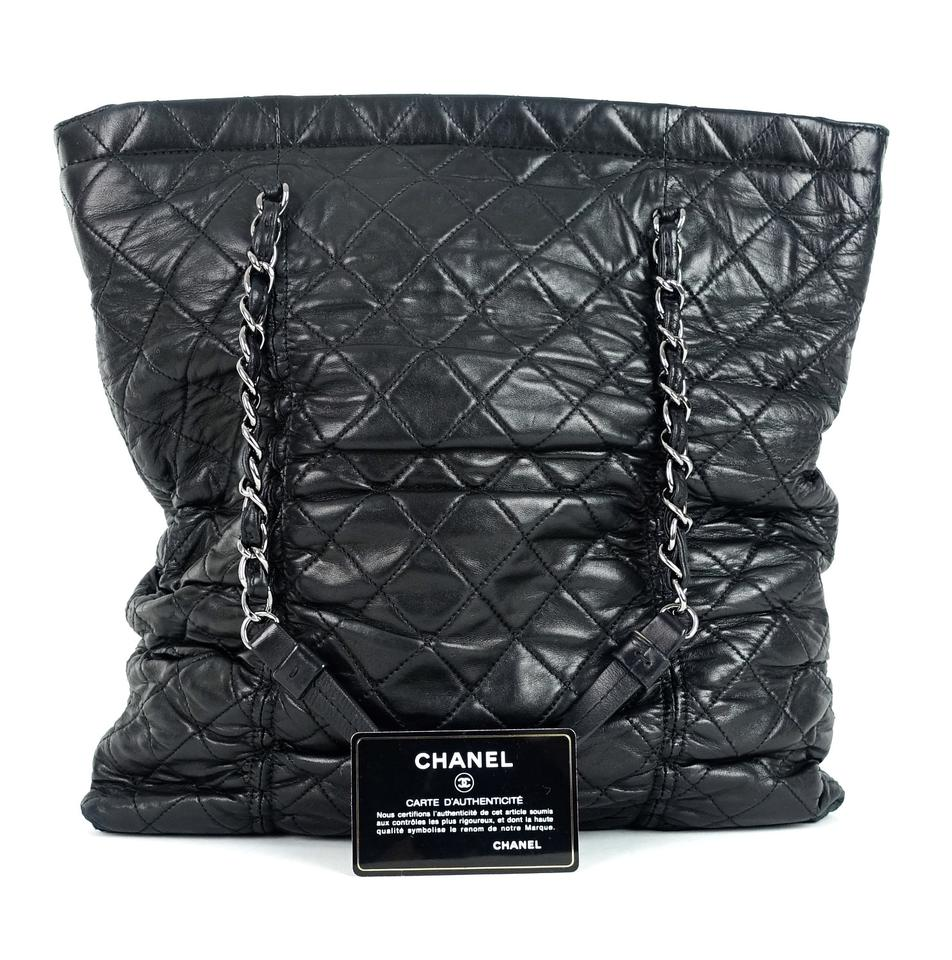 5c22f0875b22 Chanel Bag Sharpei Quilted Black Lambskin Leather Tote - Tradesy