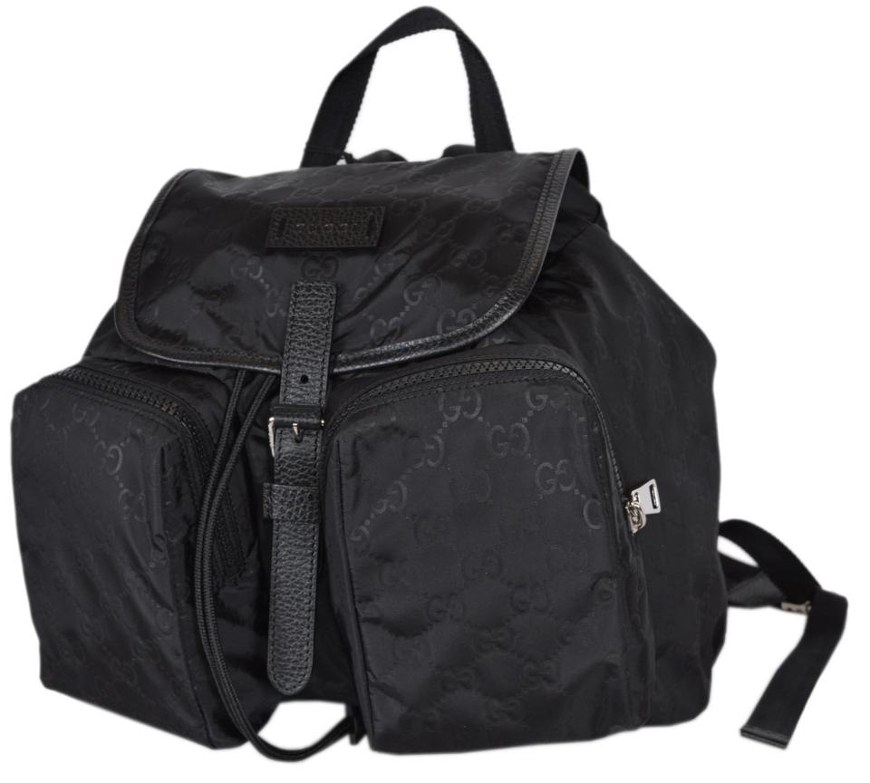 9f862a352c69 Gucci 510343 with Two Front Pockets Black Nylon Backpack - Tradesy