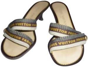 Louis Vuitton BLUE YELLOW STRAP Mules