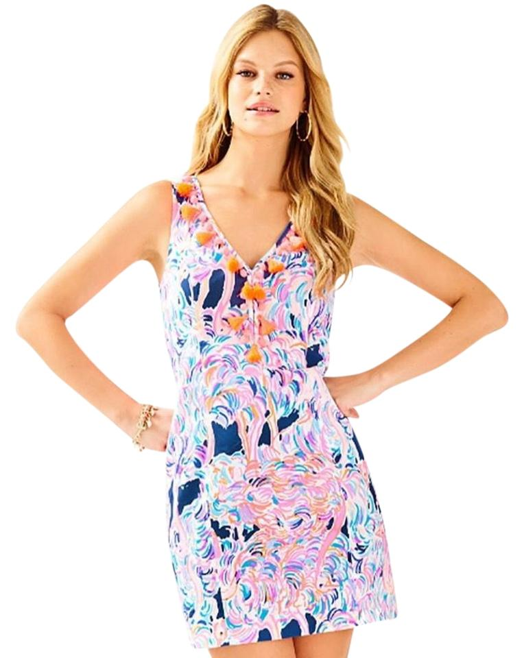 d03bbe63f40c5 Lilly Pulitzer Navy   Pink Cabrey Pelican Head In The Sand Tassel ...